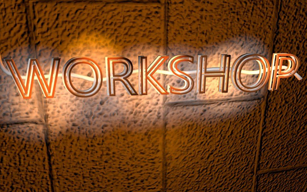 workshop light sign