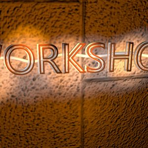workshop light sign